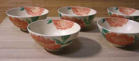 牡丹煎茶碗