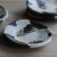 乾山写し 桐文土器皿
