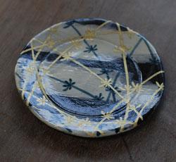 乾山写し 金彩土器皿