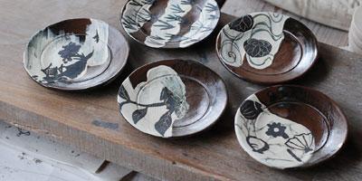 乾山 絵替わり土器皿