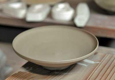 京焼 芙蓉平鉢