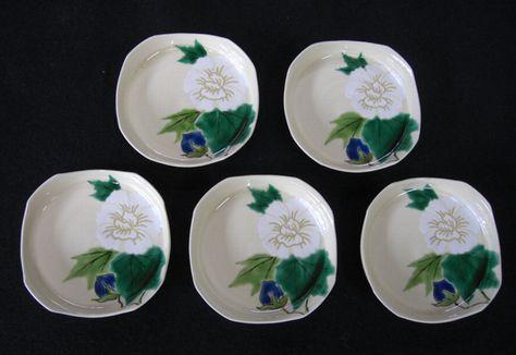 京焼き芙蓉四方小皿2