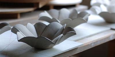 京焼 仁清百合型鉢