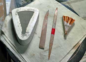 京焼扇子箸置き