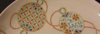 毬紋5寸皿