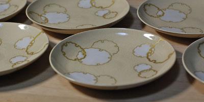 京焼 雪輪文4寸皿