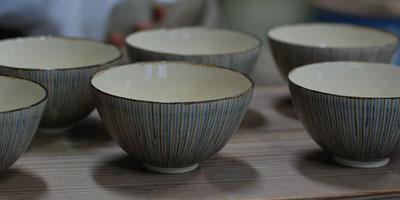 京焼 十草飯碗