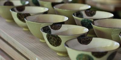 乾山写し 葵文飯碗