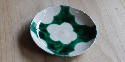 京焼 乾山写し花文小皿