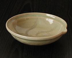 鉢 灰釉片口平鉢